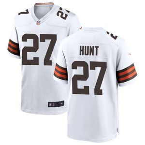 Browns Donovan Kareem Hunt White Jersey